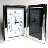 Clock Photo Frame, Personalised Silver Plated,  ref SPFCS